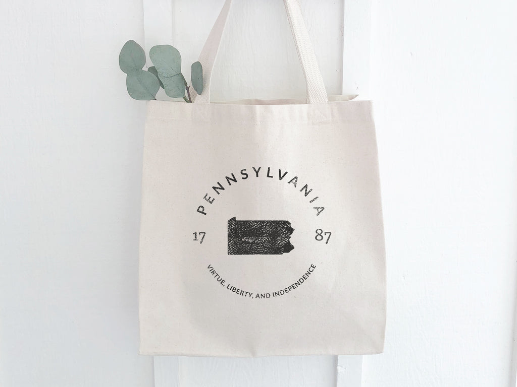 Pennsylvania State Canvas Tote Bag