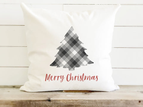 Plaid Christmas Tree Farmhouse Christmas Pillow