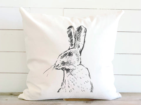 Woodland Hare Spring Canvas Pillow
