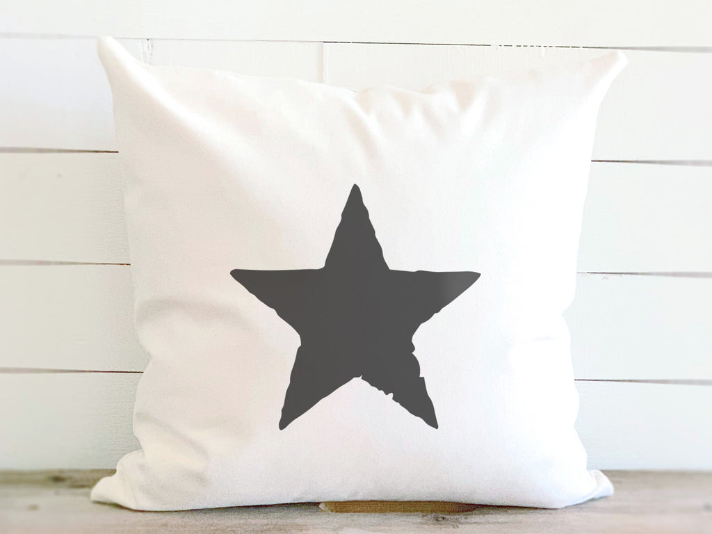 Rustic Star Americana Canvas Pillow