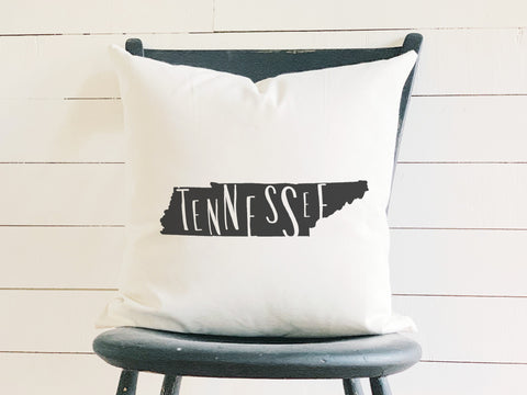 Tennessee Home State Silhouette Throw Pillow