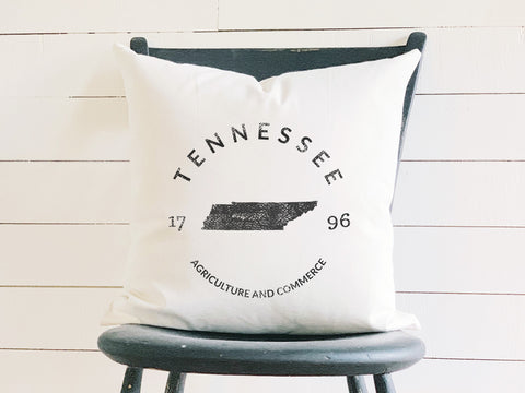 Tennessee State Badge Pillow with State Motto and Established Date