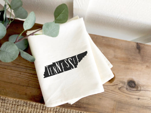 Tennessee State Silhouette Tea Towel