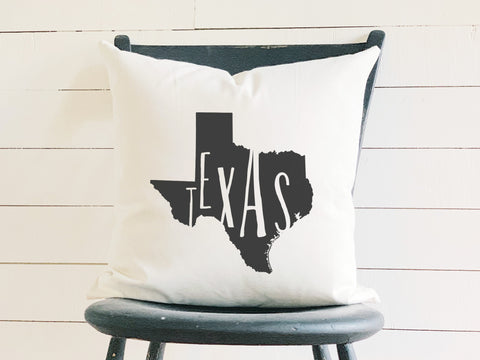 Texas Home State Silhouette Throw Pillow