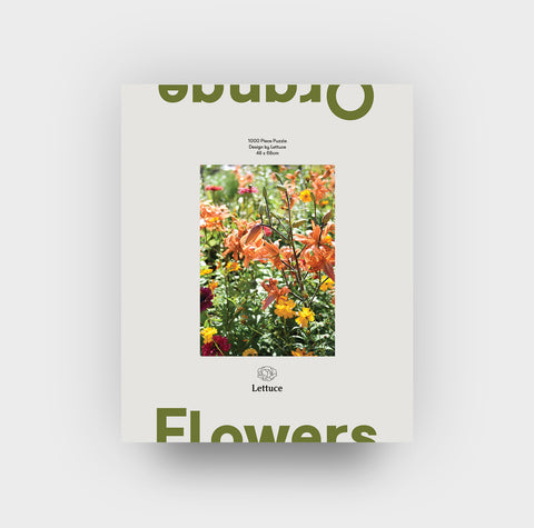 Lettuce | Puzzle | Orange Flowers