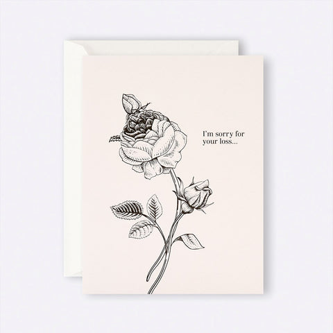 Father Rabbit Stationery | Card | I'm sorry for your loss Rose