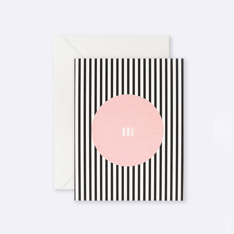 Lettuce | Card | Hi Pink Dot Stripe