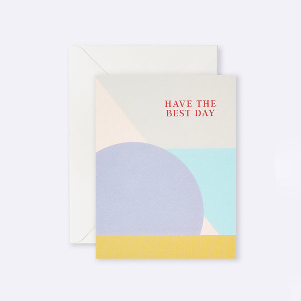 Lettuce | Card | Have the Best Day Mauve Circle