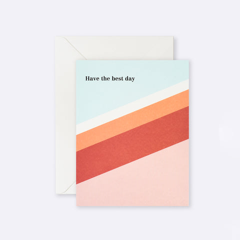 Lettuce | Card | Have the Best Day Red + Orange Stripe