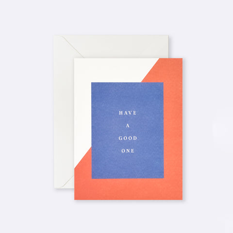 Lettuce | Card | Have a Good One Blue + Red