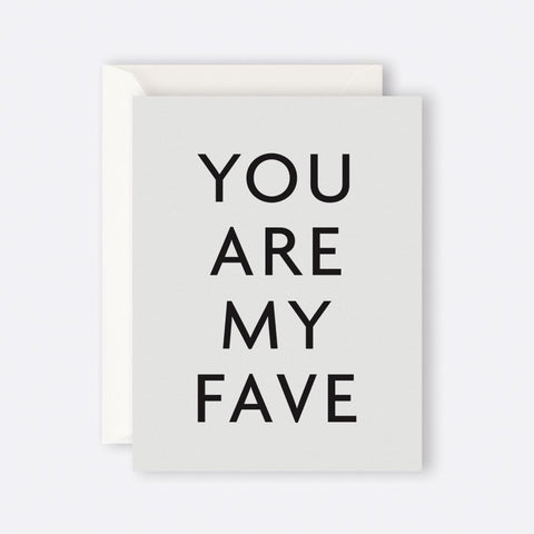 Father Rabbit Stationery | Card | YOU ARE MY FAVE