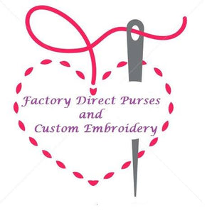 Factory Direct Purses and Custom Embroidery