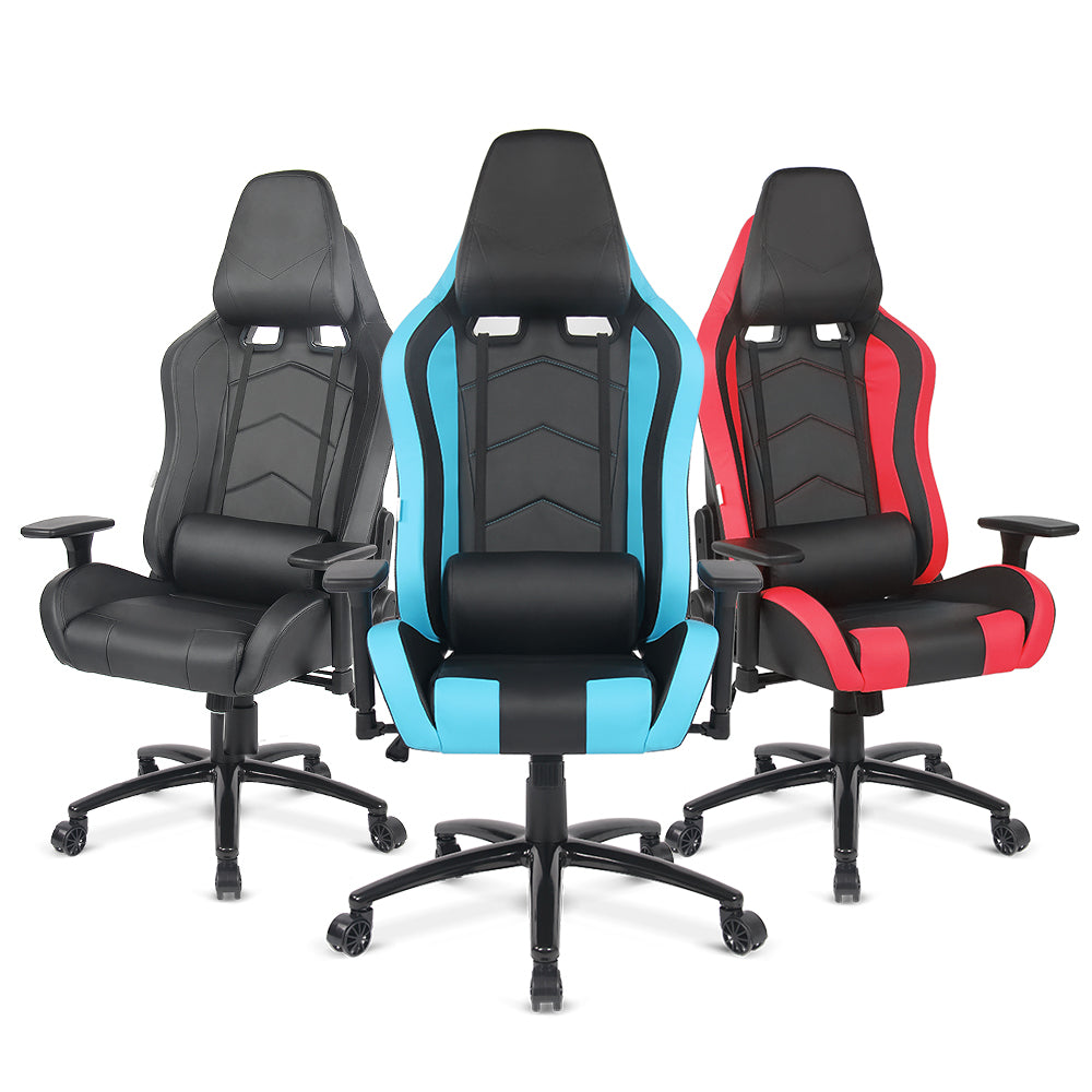 iKayaa US UK FR Stock Gaming Office Chair Computer Chair Height Armrest Adjustable Tilt Swivel Function for Manager Chairs