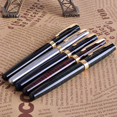 5Pcs/set Baoer 388 Luxury Gold Clip Fountain Pen Mix Colors 0.5mm