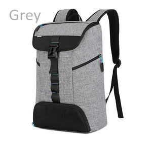 Anti-theft New Laptop Backpack Computer bag 17 17.3 Inch  For Sony HP Dell Super Light Grey Color Top Side opening Notebook bag