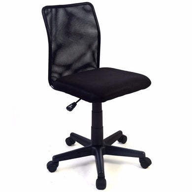 Goplus Adjustable Ergonomic Home Office Chair Modern Mid-back Swivel Mesh Chairs Computer Desk Task Black Lift Chair CB10062