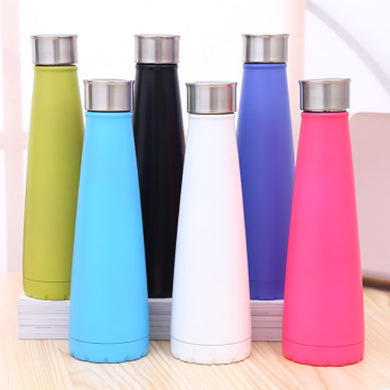 2018 New Fashion Coke Bottle Simple Modern Vacuum Insulated Bottle Double Stainless Steel Cola Style High Quality