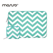 MOSISO Chevron Canvas 11 13 14 15 inch Soft Laptop Sleeve Bag Notebook Case Cover for Macbook Air Pro 11 13 15 inch Asus/HP Dell