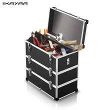 iKayaa Storage Box Layer Portable Multi-Purpose Tool Box Hard Carrying Case with Handle Strap
