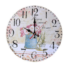 Wooden Wall Clock Owl Flower Vintage Modern Design Non-Ticking Silent Antique Wood Wall Clock for Home Kitchen Office 2018