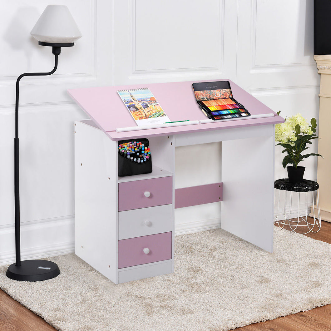 Giantex Adjustable Desk with Drawers