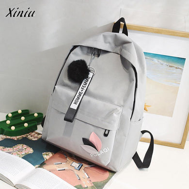 Neutral Backpack Bag Canvas