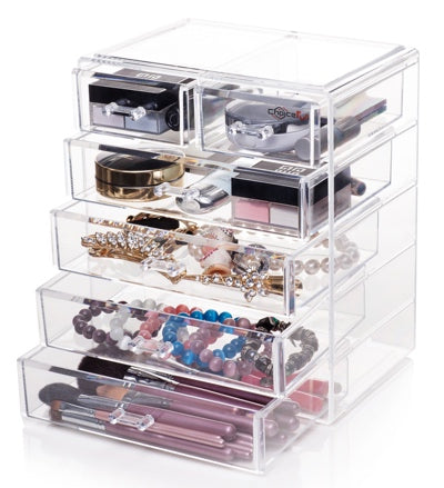 CHOICE FUN Best Selling Large Desktop Clear Acrylic Drawers Organizer
