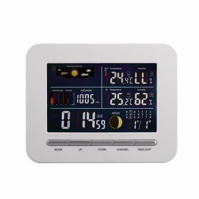 Wireless Digital Forecast Weather Station Clock Remote Sensor Indoor Outdoor Temperature Humidity Monitor Alarm Clock