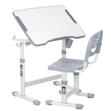 iKayaa Height Adjustable Kid's Study Desk Chair Set