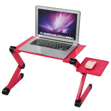 Foldable Adjustable Computer Desks Laptop Table Stand Tray For Sofa Bed Laptop Table Black red color