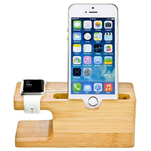 CARPRIE  Wood Stand Charging Station Cradle Holder For IPhone For iphone Watch dock Bamboo portable charger
