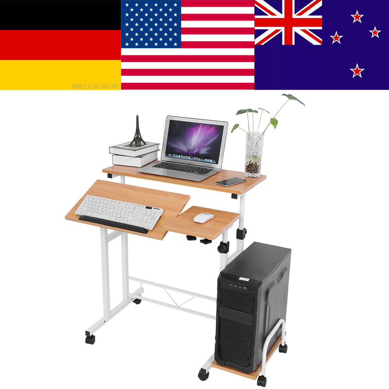 Stable Height Adjustable Mobile Laptop Computer Standing Desk for Home Office mesas escritorio foldable laptop standing table