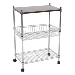3 Layers Trolley Cart 4 Wheels Multi-function