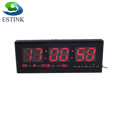 48cm Digital Wall Clock Big LED Time Calendar Temperature Desk Table Clocks