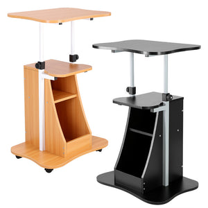 Adjustable Height Laptop Desk With Swivel Rotate Laptop Bed Table Can be Lifted Standing Desk
