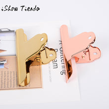 Golden Stainless Steel Metal Receipt Folder Document Binder Clip