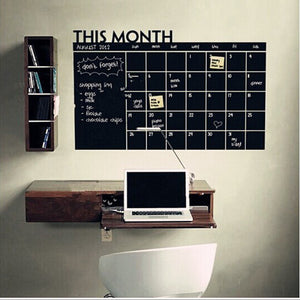 Monthly Plan Calendar Chalkboard Blackboard Wall Sticker