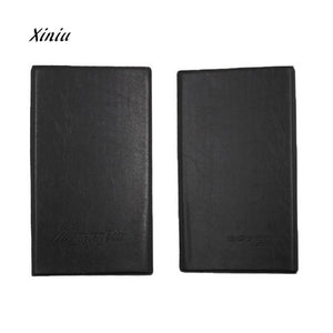 2018 New Arrival Black Leather 120 Business Name Card Holder Book Wallet Cover Case Pouch Folder Large Capacity Card Wallet
