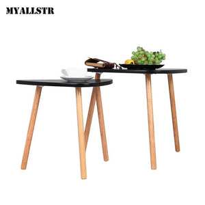 Living Simple Modern Wooden Triangle Shape Coffee Table