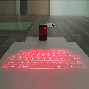 Portable Bluetooth Wireless Virtual Laser Keyboard Mini Bluetooth Projection Keyboard for Windows For Mobile Phones