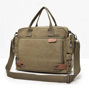 Canvas Men's Shoulder Bag Briefcase Messenger Crossbody Bag