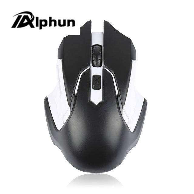 Alphun 2.4GHz  Optical Wireless Mouse Gamer for PC Gaming Laptops with USB Receiver