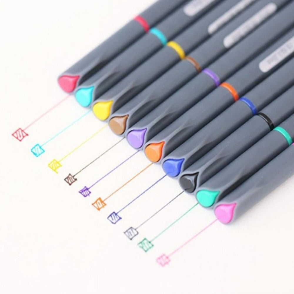 10 Pcs/set 0.38mm Fine Line Gel Pen Set