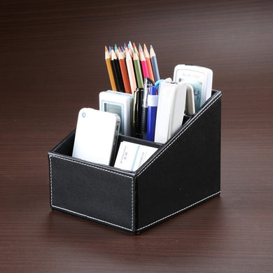 New PU Leather Desk Organizer