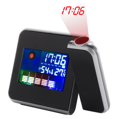 Black Digital LCD Screen Weather Station Forecast Calendar and Alarm Clock