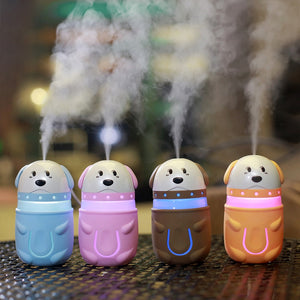 Ultrasonic Humidifier Mini Colorful Dog Night Light