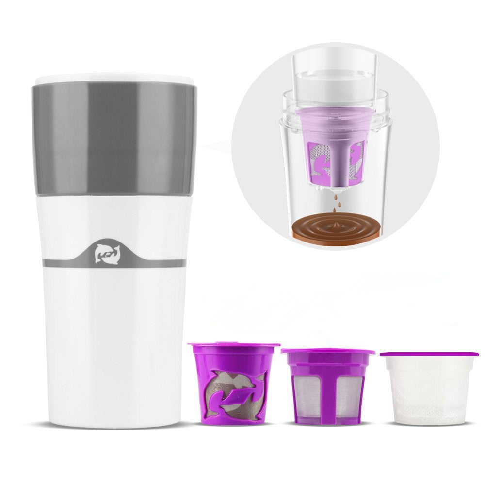 High Quality Portable Single Serve Coffee Maker K Cup Drip Coffee Brewer Travel Mug
