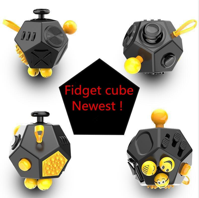 2017 Hot ! Squeeze Fun Stress Reliever Gifts Fidget Cube 2 Relieve Anxiety and Stress Juguet For Adult Fidgetcube Desk Spin Toy