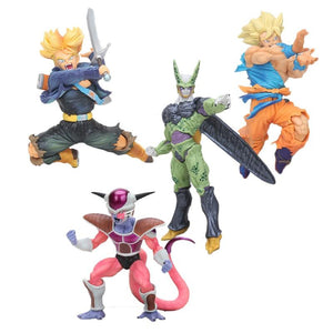 20cm Dragon Ball Super Saiyan 3 Son Goku BWFC trunks Cell freeza PVC Action Figure Toys Dragon Ball Z Figure