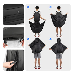 Tokyo Waterproof Raincoat + USB High Capacity Travel bag